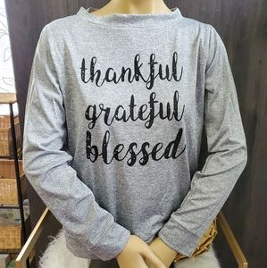 Tops - Thankful & Blessed Pullover